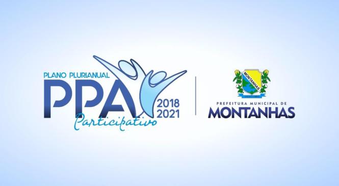 VAMOS JUNTOS FAZER A ELABORAÇÃO DO PLANO PLURIANUAL PARTICIPATIVO 2018/2021 DE MONTANHAS!