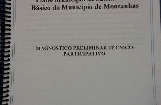 DIAGNÓSTICO DO PLANO MUNICIPAL DE SANEAMENTO BÁSICO DE MONTANHAS