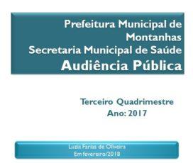 SECRETARIA DE SAÚDE PROMOVE AUDIÊNCIA PÚBLICA DIA 28 DE FEVEREIRO